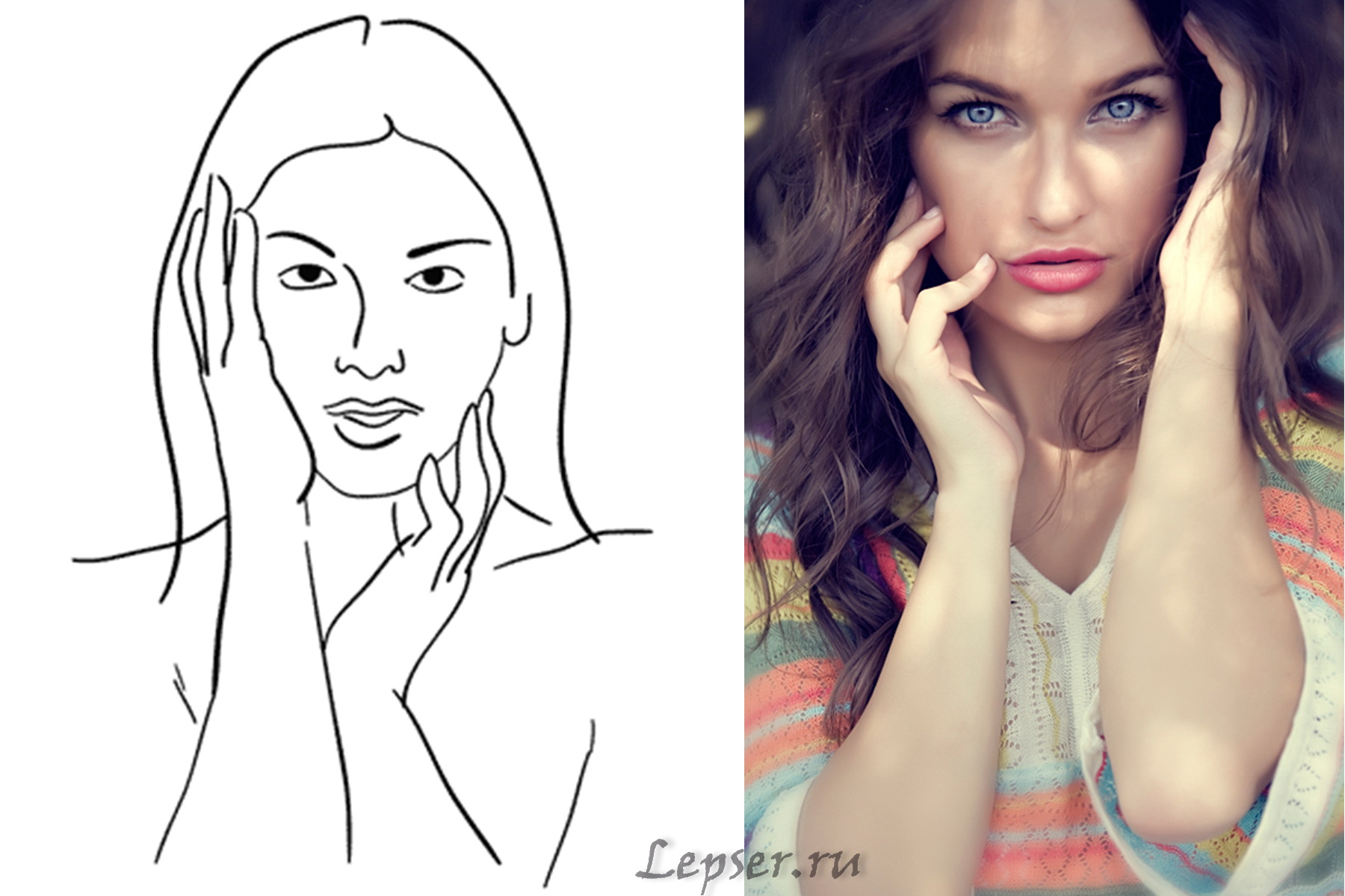 Как сделать красивые портрет